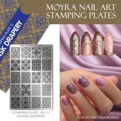 Moyra Stamping Plate - Damask Drapery -  nr. 011