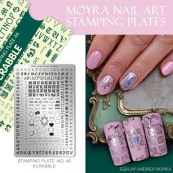 Moyra Stamping Plate - Scrabble -  nr. 046