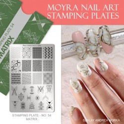 Moyra Stamping Plate - Matrix -  nr. 054