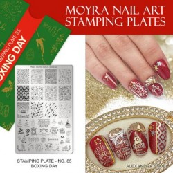 Moyra Stamping Plate - Boxing Day -  nr. 085